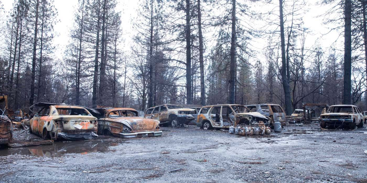 Burned Cars from California Camp Fire