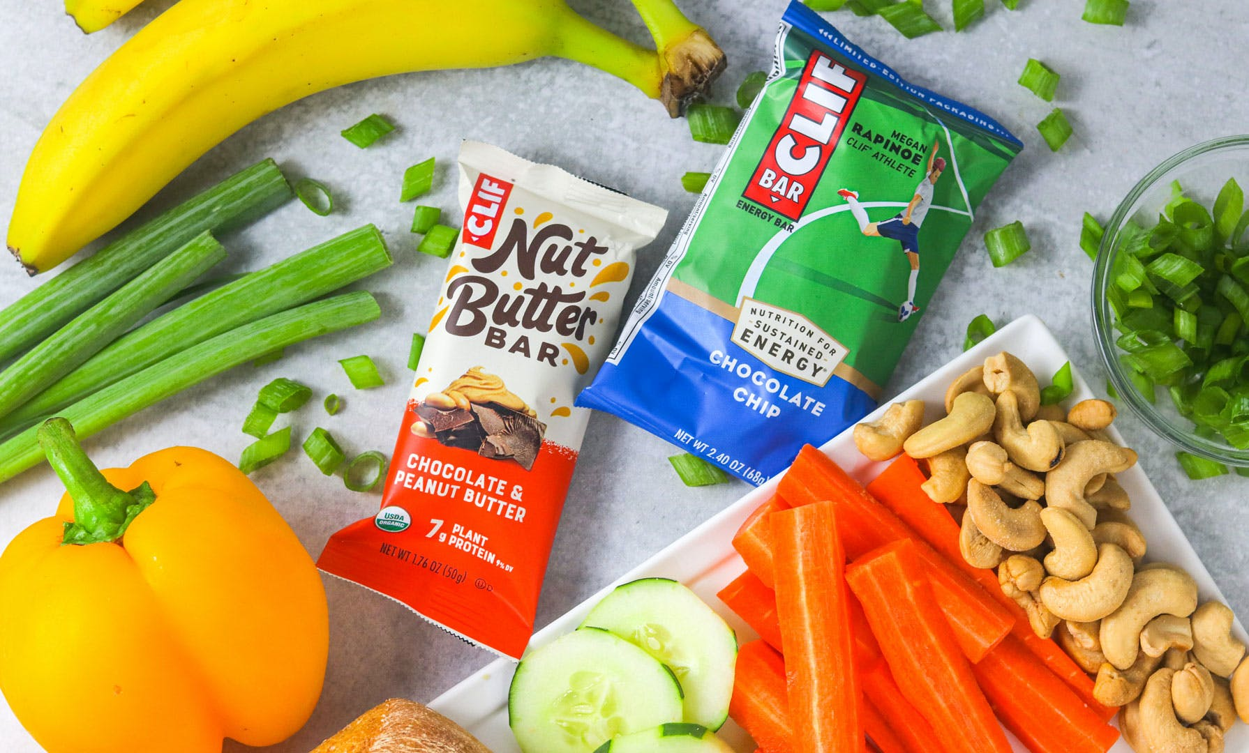 CLIF Bars with vegetables