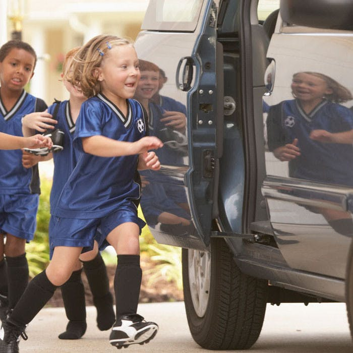 Kids Going To Soccer Game