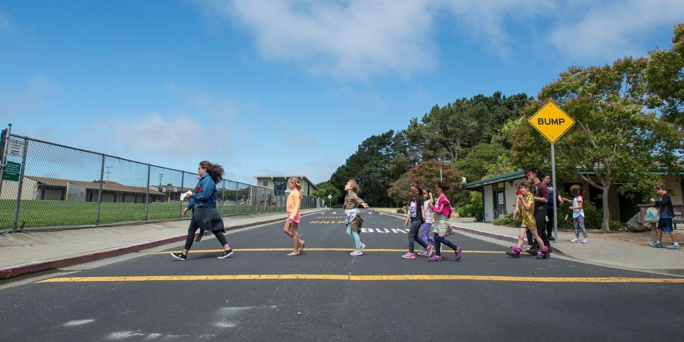 Kids Crossing Road