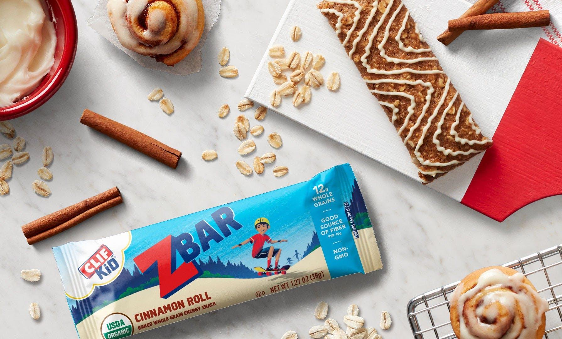 New Flavor Cinnamon Roll CLIF Kid Zbar