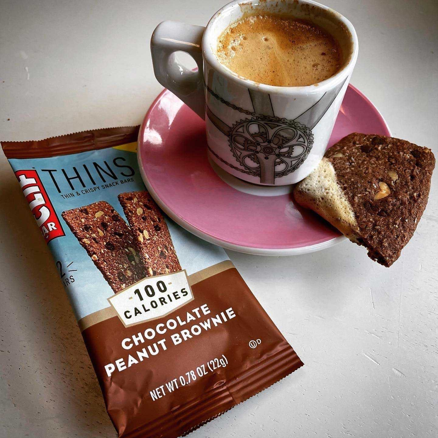 CLIF BAR Thins with espresso cup