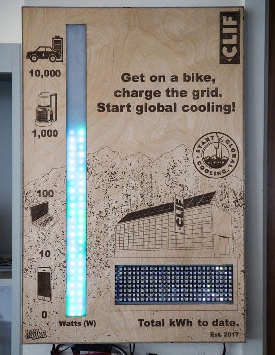 Clif Bar pedal power grid