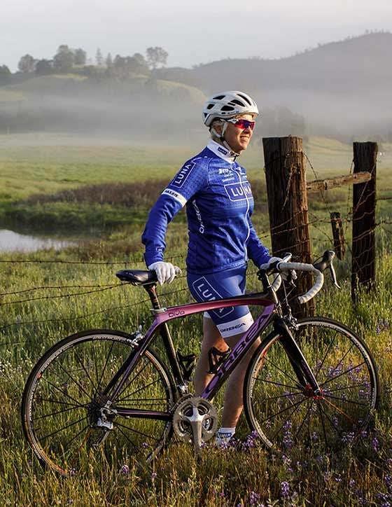 Kit Crawford on bike ride
