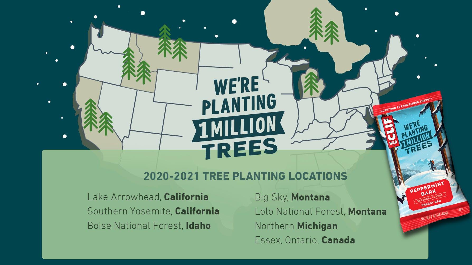 2020 2021 Tree planting locations