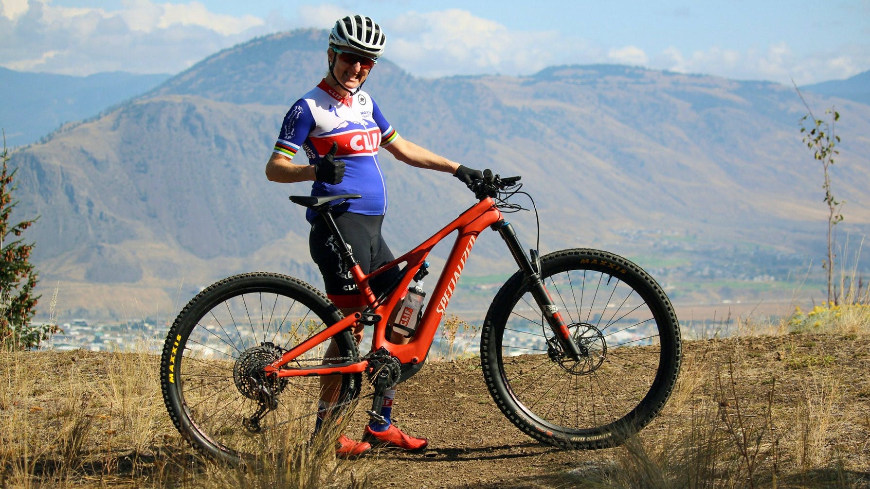 Athlete mom Catharine Pendrel mountain biking
