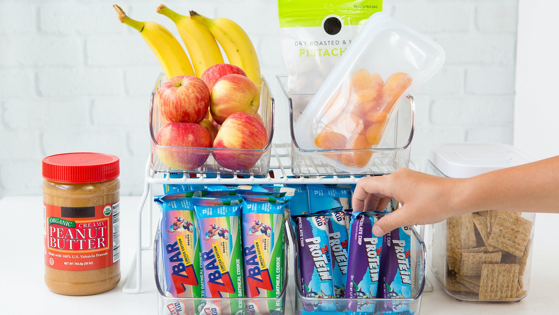 CLIF Kid Zbar with after school snacks
