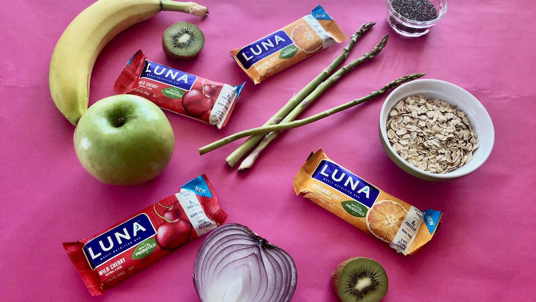 LUNA bars and prebiotic foods
