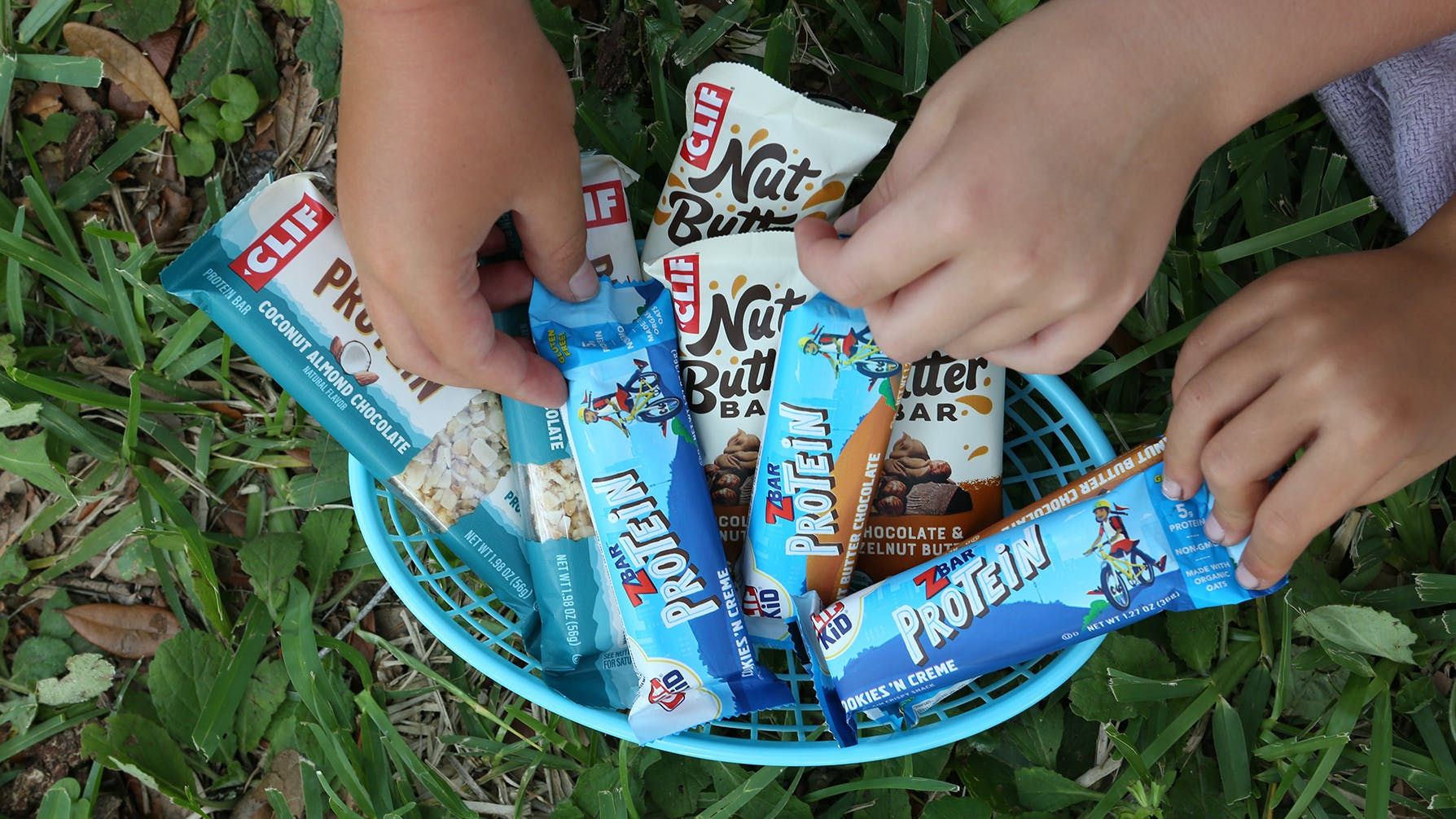 Basket of Zbars and Nut Butter Bars
