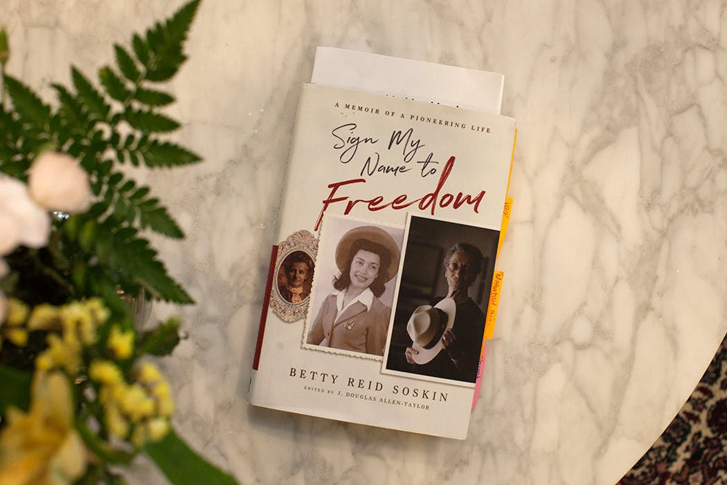 """Betty Soskin's """"Sign My Name For Freedom"""" book"""