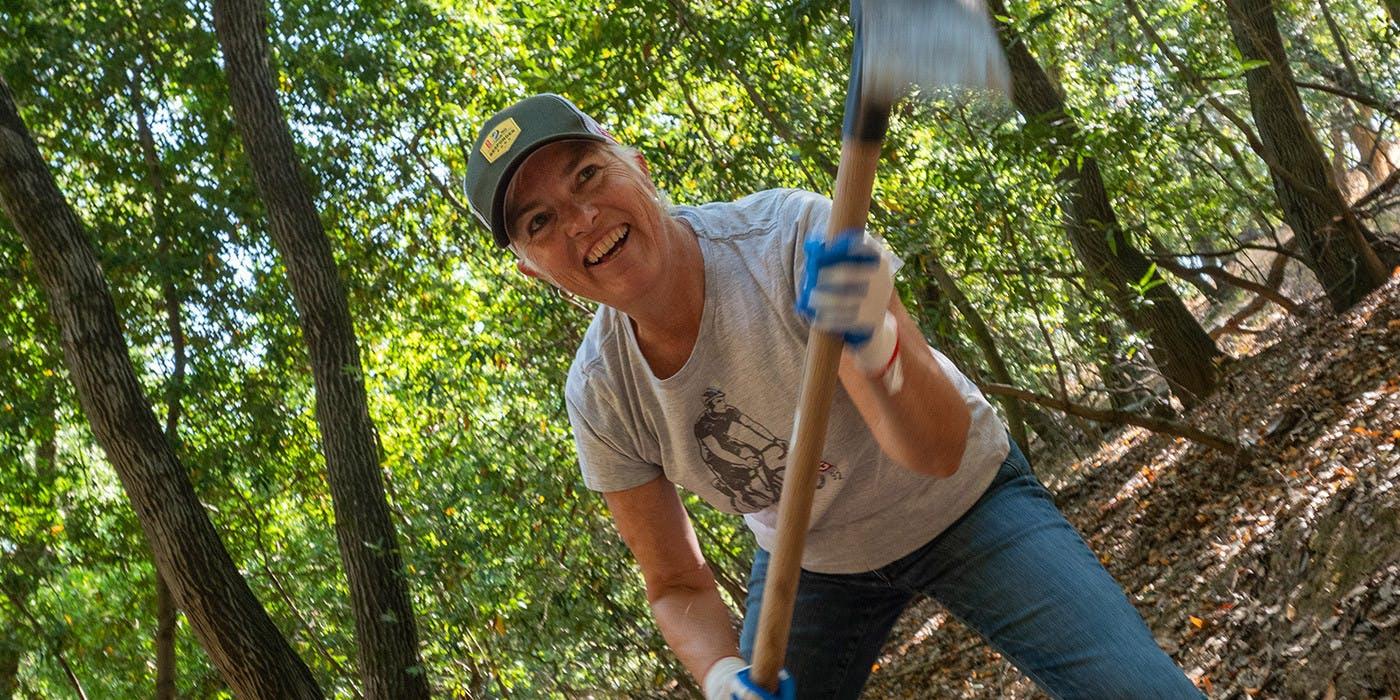 Kit Crawford volunteering